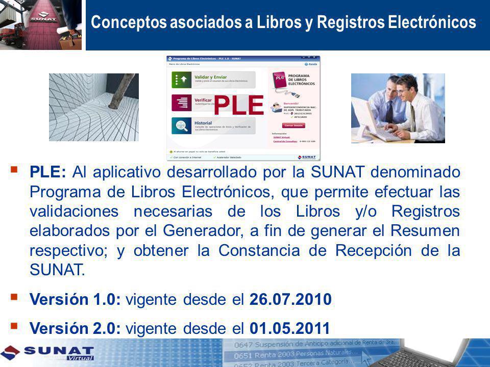 PLE Conceptos asociados a Libros y Registros Electrónicos