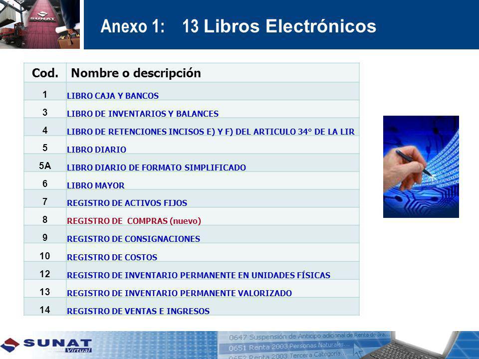 Anexo 1: 13 Libros Electrónicos