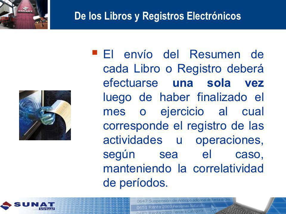 De los Libros y Registros Electrónicos