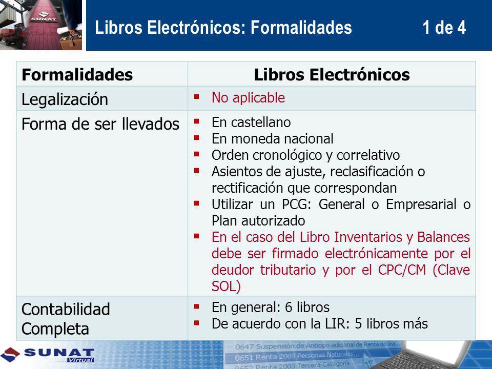 Libros Electrónicos: Formalidades 1 de 4