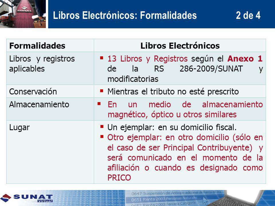 Libros Electrónicos: Formalidades 2 de 4
