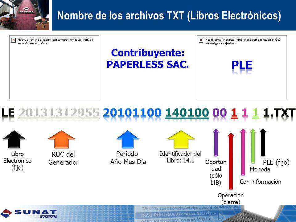 Contribuyente: PAPERLESS SAC.