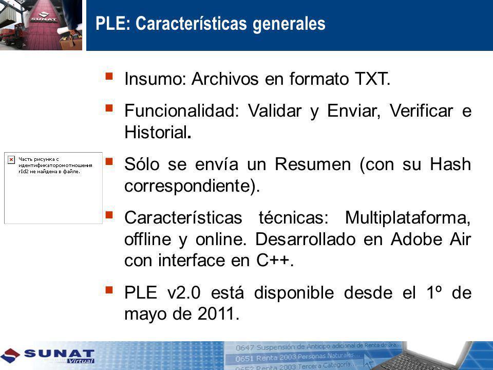 PLE: Características generales