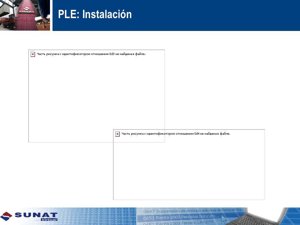 PLE: Instalación Instalar el aplicativo