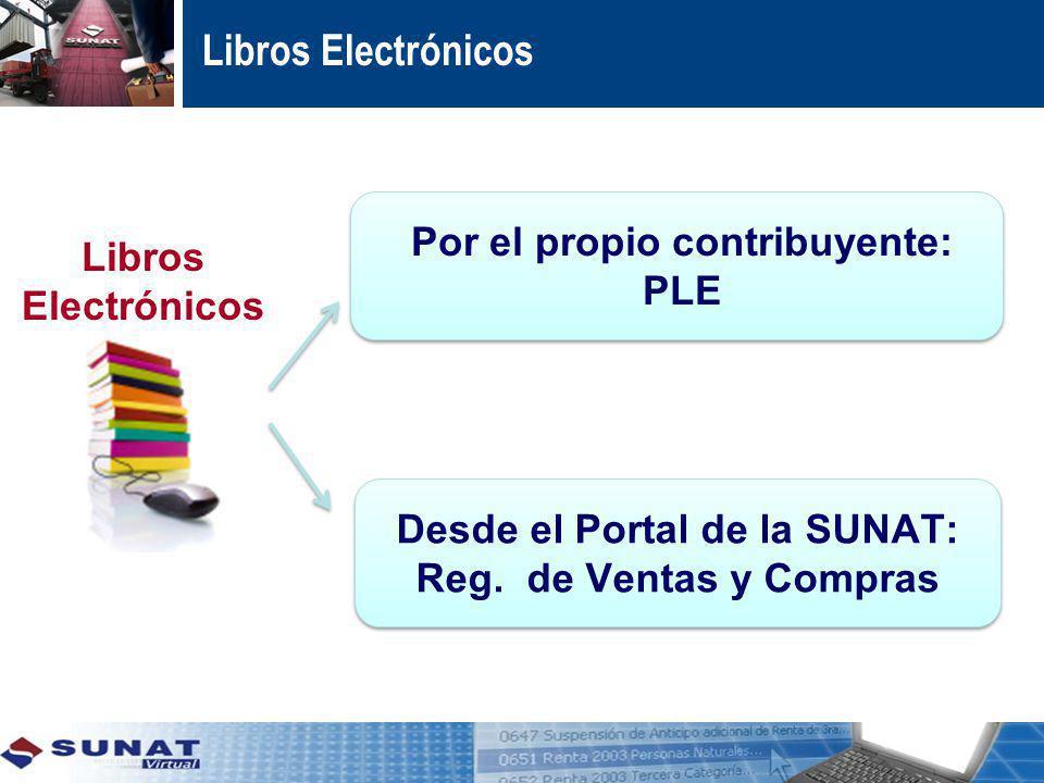 Libros Electrónicos Por el propio contribuyente: PLE