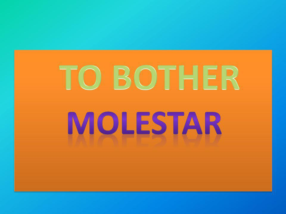 TO BOTHER molestar