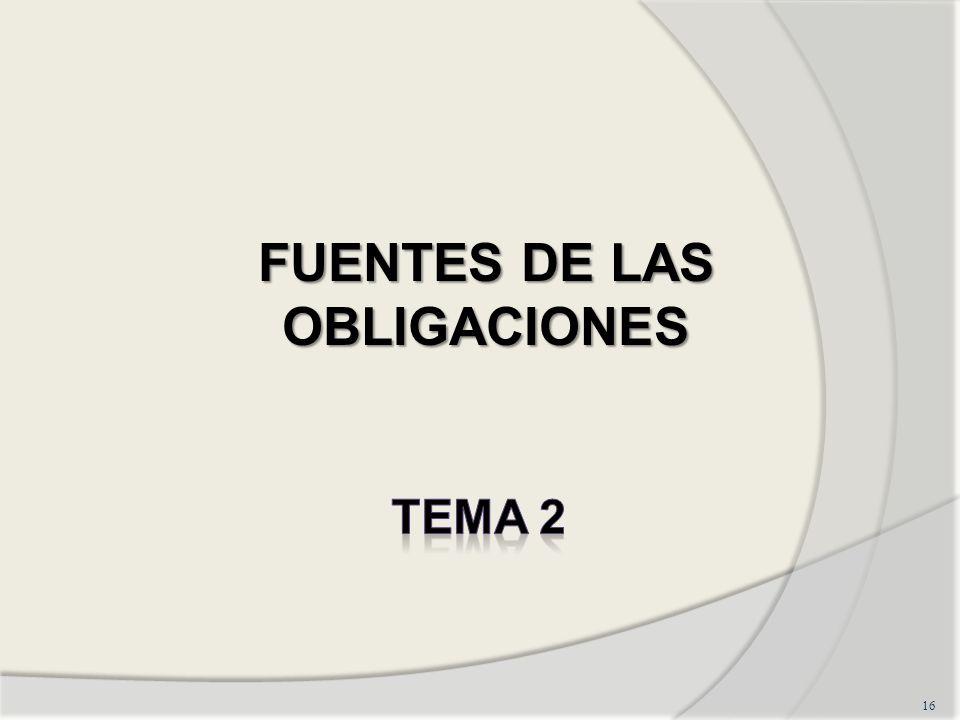 FUENTES DE LAS OBLIGACIONES