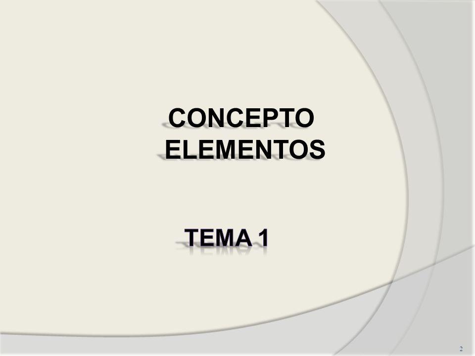 CONCEPTO ELEMENTOS TEMA 1