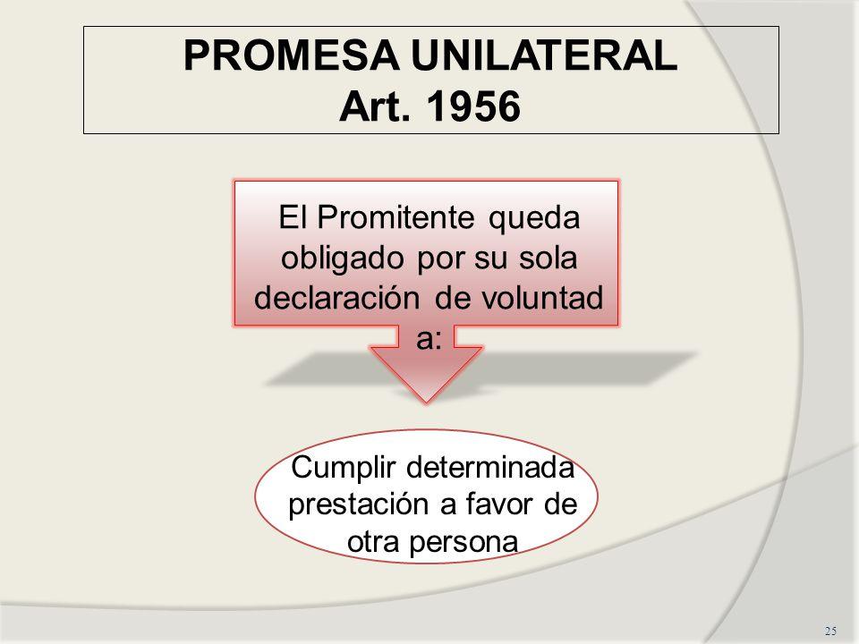 PROMESA UNILATERAL Art. 1956