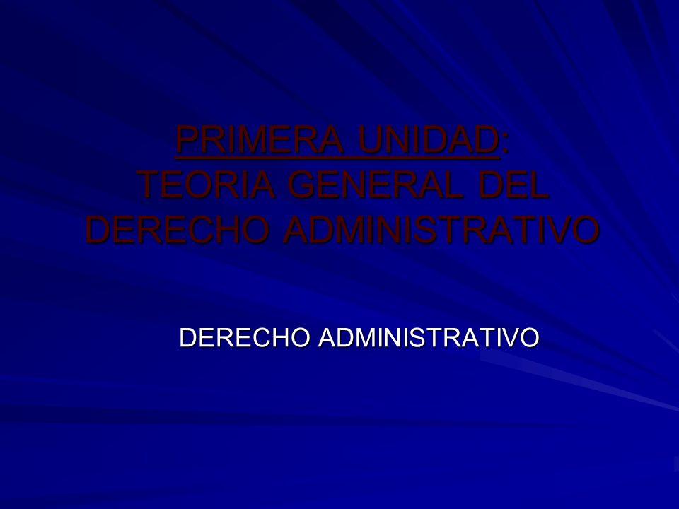 PRIMERA UNIDAD: TEORIA GENERAL DEL DERECHO ADMINISTRATIVO