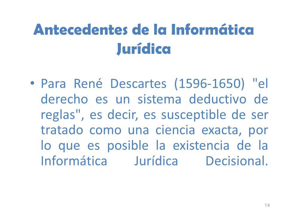 Antecedentes de la Informática Jurídica
