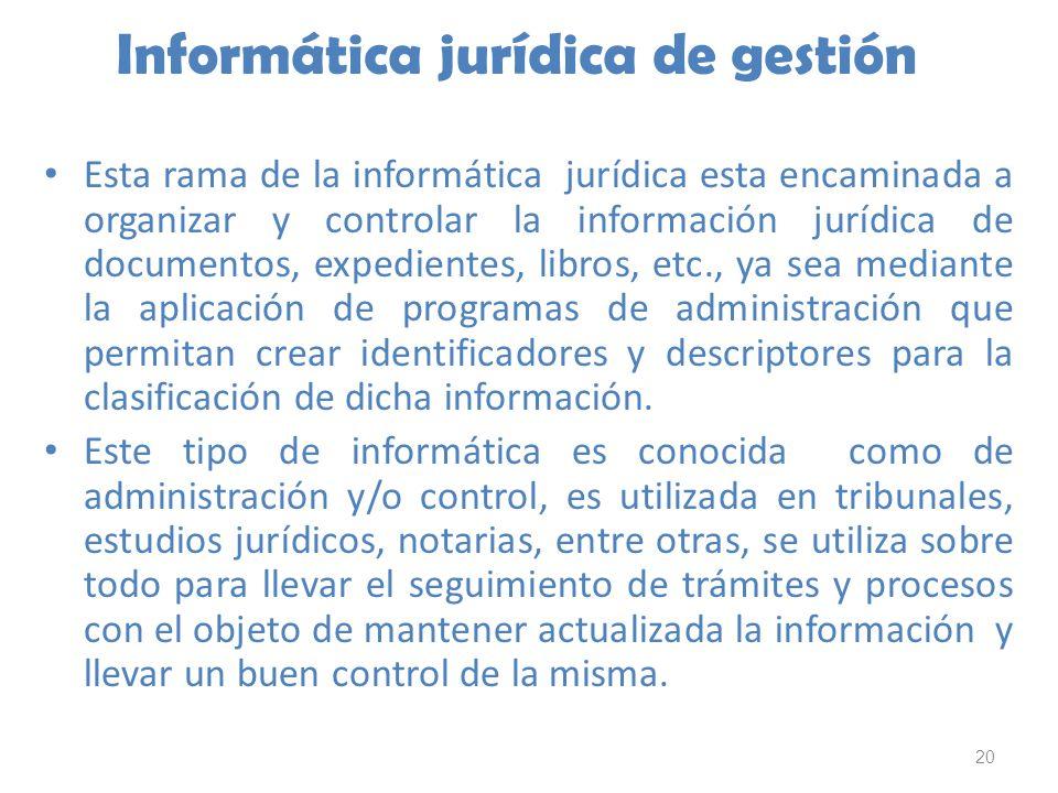 Informática jurídica de gestión