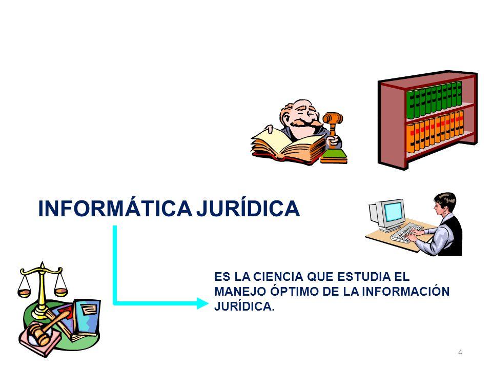 INFORMÁTICA JURÍDICA LA INFORMÁTICA JURÍDICA