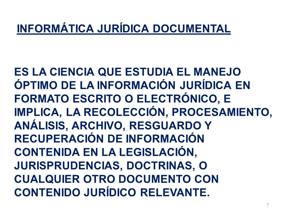 INFORMÁTICA JURÍDICA DOCUMENTAL