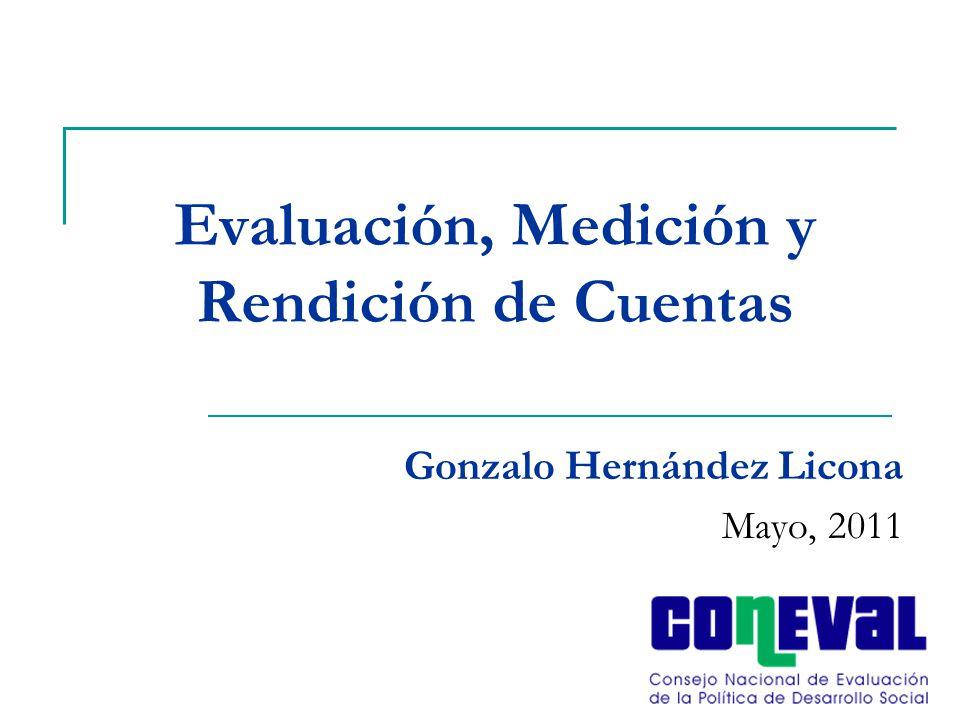 Evaluación, Medición y Rendición de Cuentas