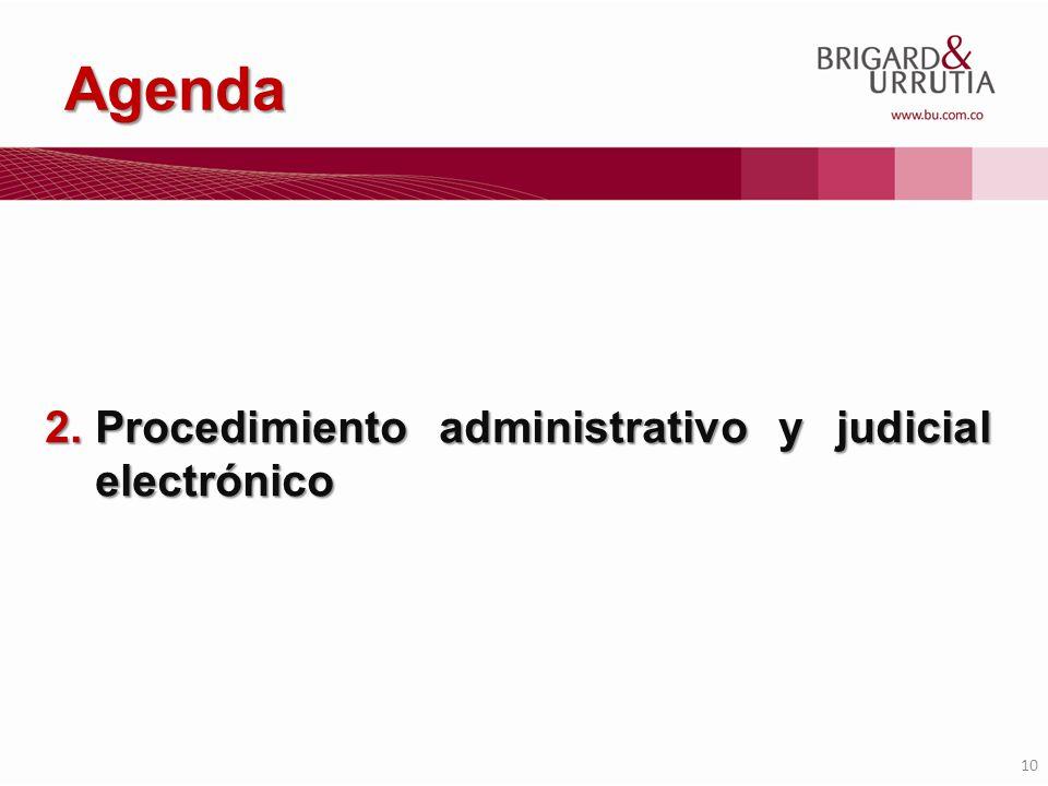 Agenda Procedimiento administrativo y judicial electrónico