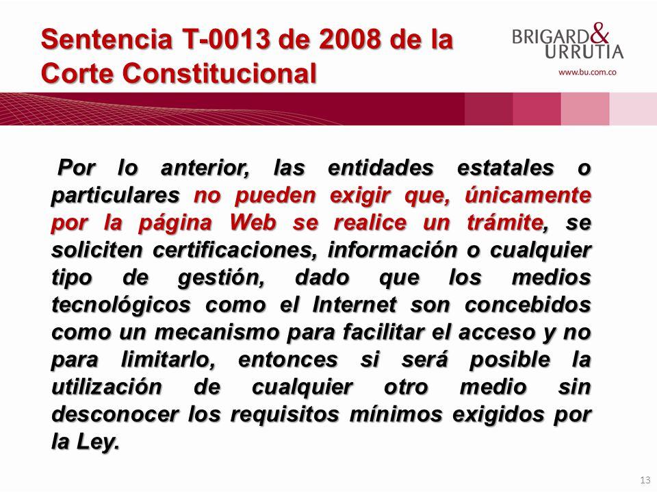 Sentencia T-0013 de 2008 de la Corte Constitucional