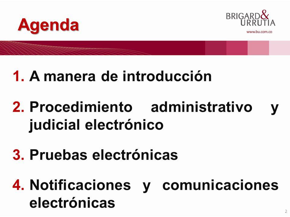 Agenda A manera de introducción