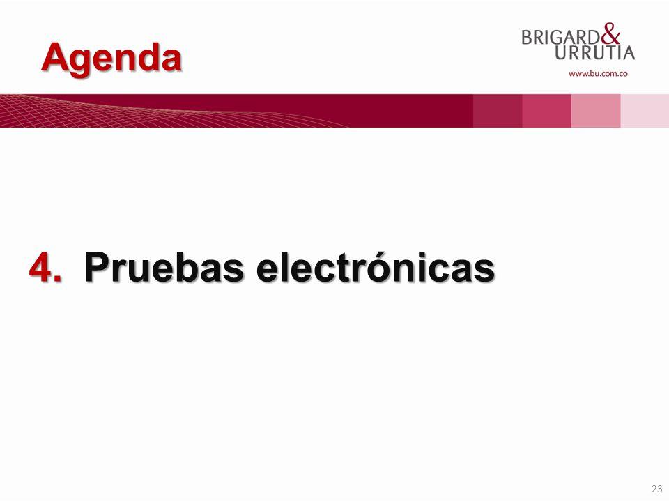 Agenda Pruebas electrónicas