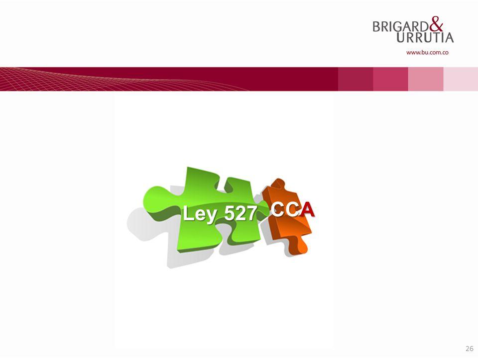 CCA Ley 527