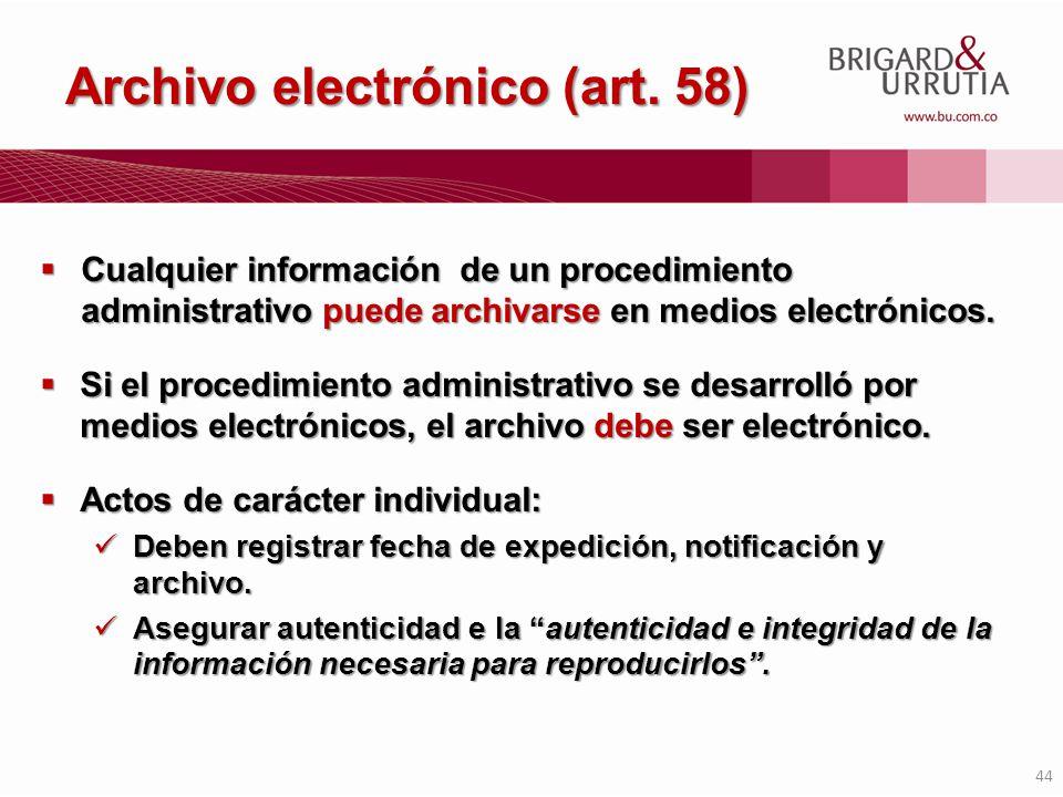 Archivo electrónico (art. 58)