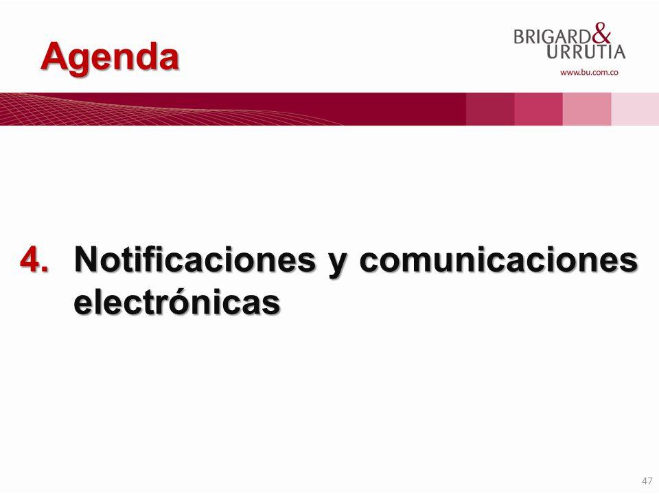 Agenda Notificaciones y comunicaciones electrónicas