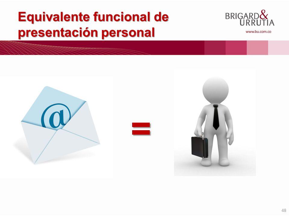 Equivalente funcional de presentación personal