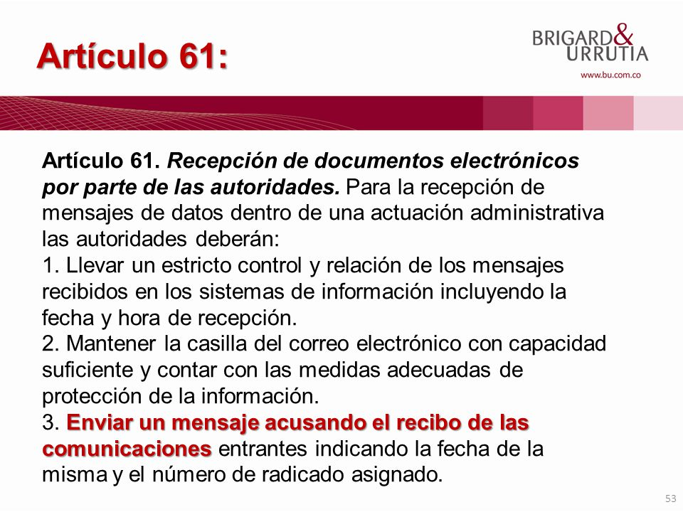 Artículo 61: