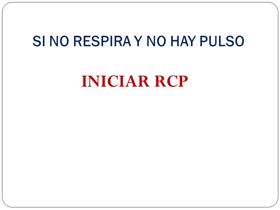 SI NO RESPIRA Y NO HAY PULSO