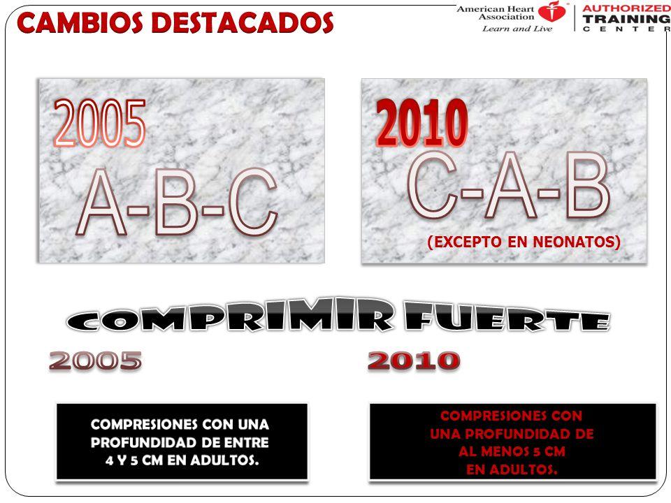 C-A-B A-B-C 2005 2010 COMPRIMIR FUERTE 2005 2010 CAMBIOS DESTACADOS