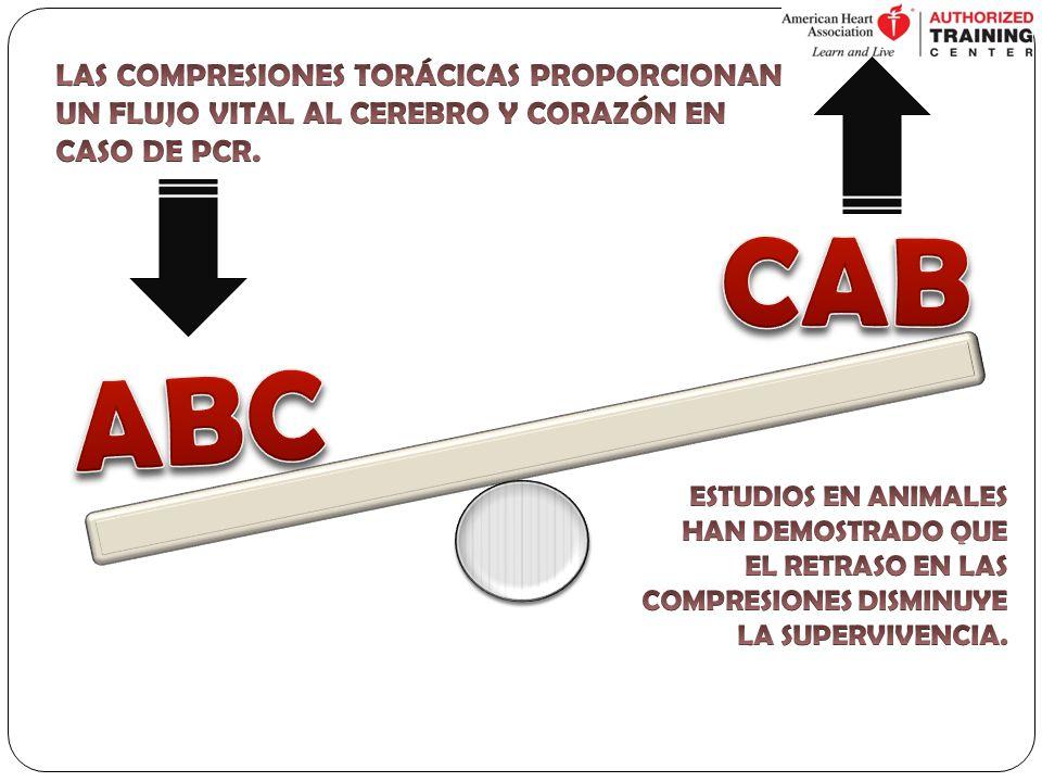 CAB ABC LAS COMPRESIONES TORÁCICAS PROPORCIONAN