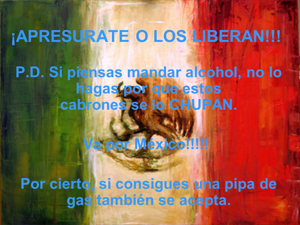 ¡APRESURATE O LOS LIBERAN!!!