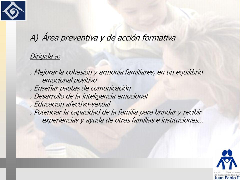 Área preventiva y de acción formativa
