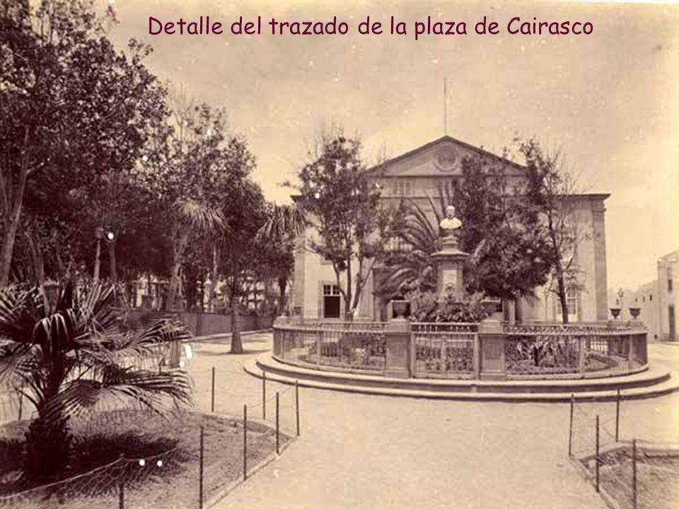 Detalle del trazado de la plaza de Cairasco