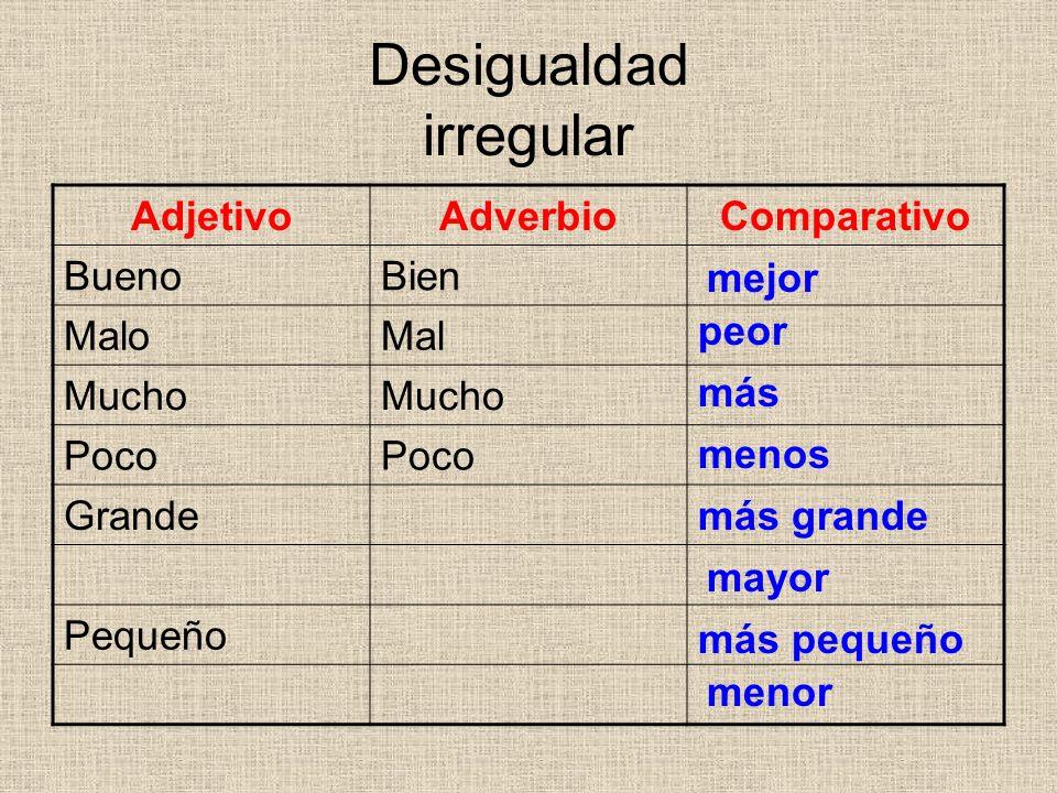 Desigualdad irregular