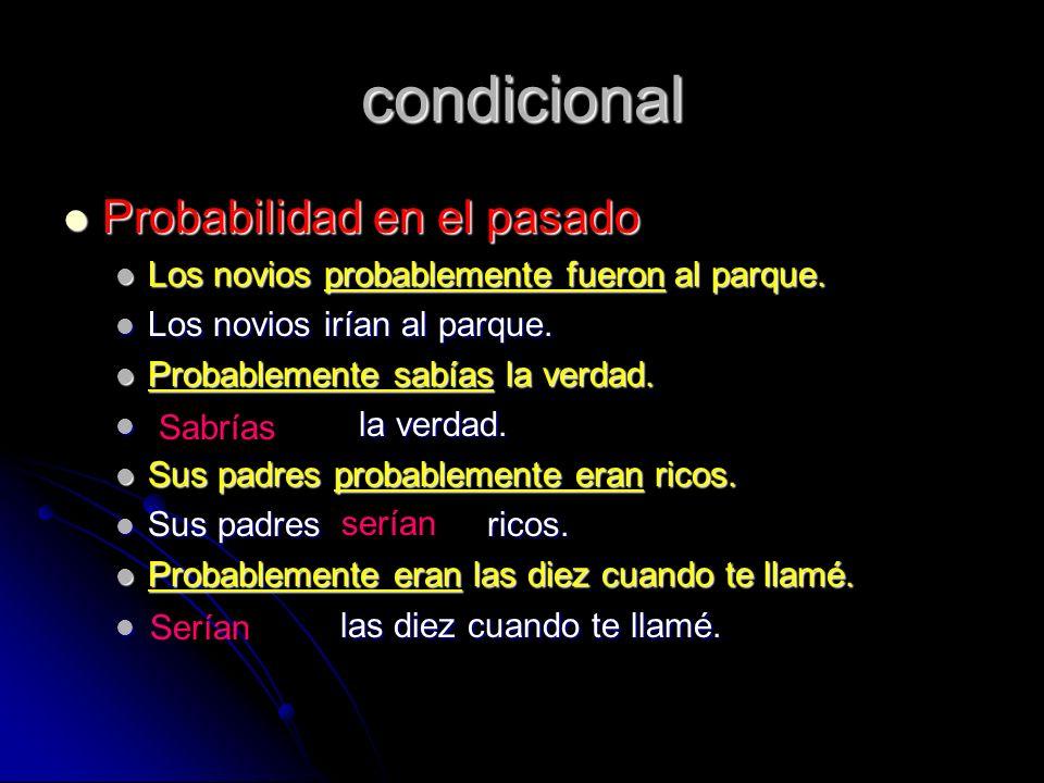 condicional Probabilidad en el pasado