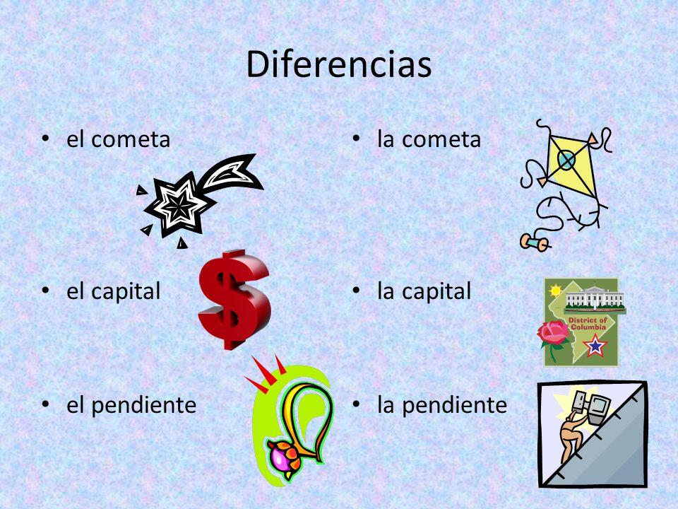 Diferencias el cometa el capital el pendiente la cometa la capital