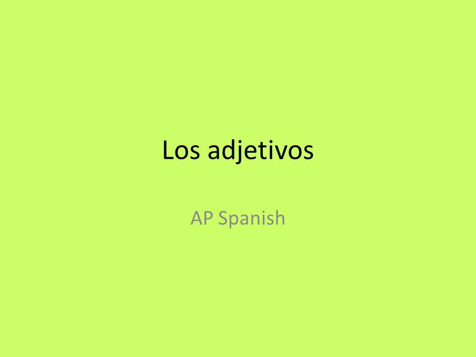 Los adjetivos AP Spanish