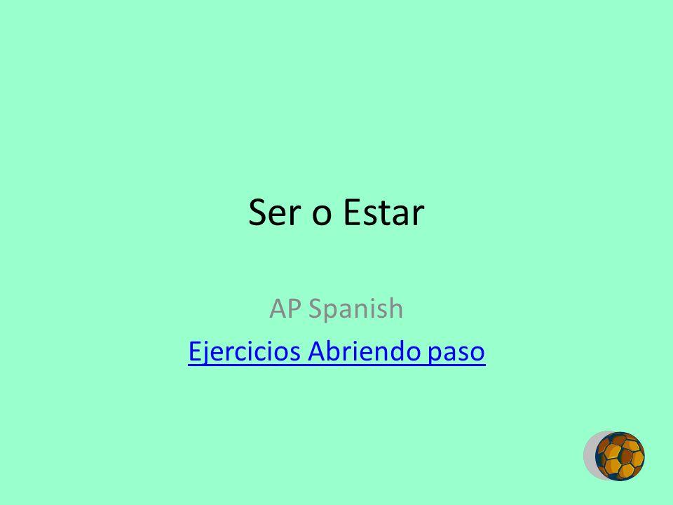 AP Spanish Ejercicios Abriendo paso