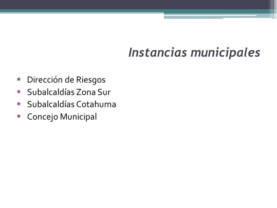 Instancias municipales