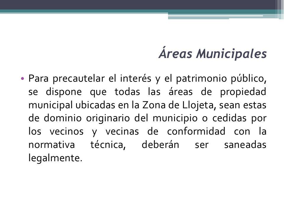 Áreas Municipales