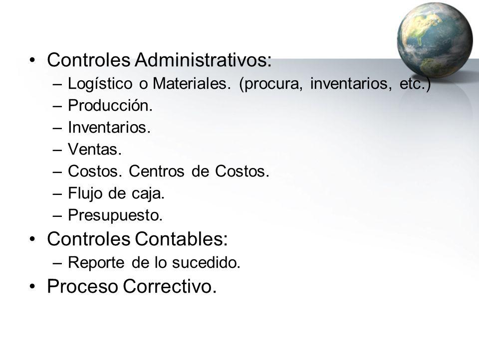 Controles Administrativos: