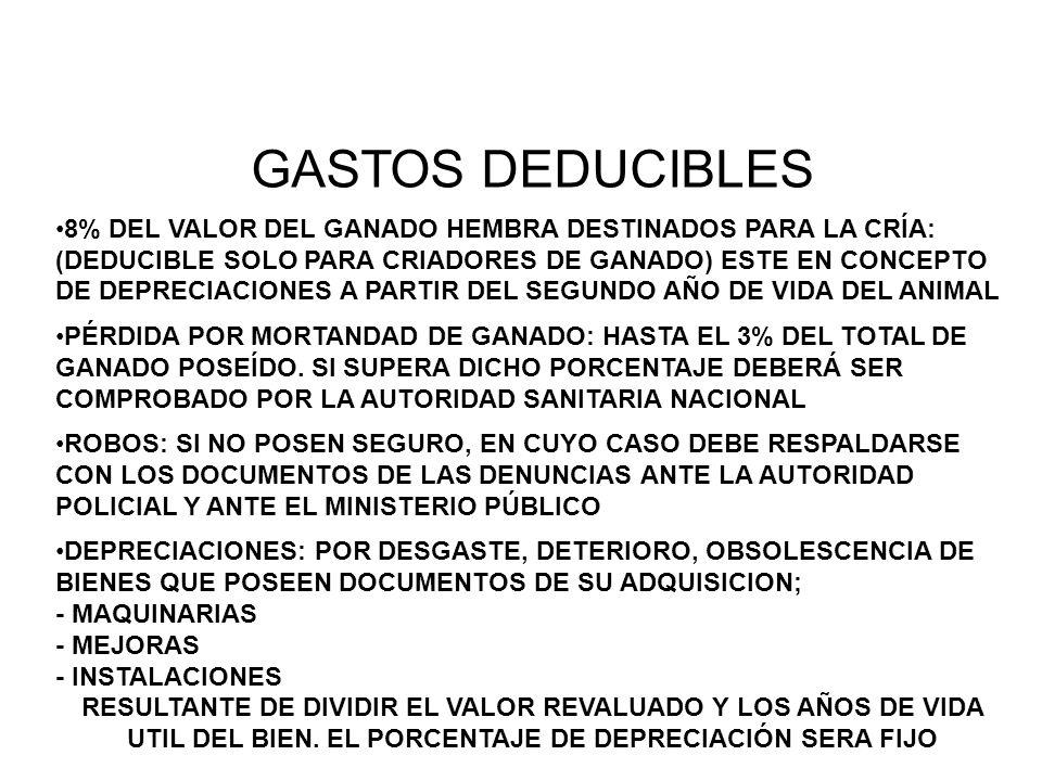GASTOS DEDUCIBLES