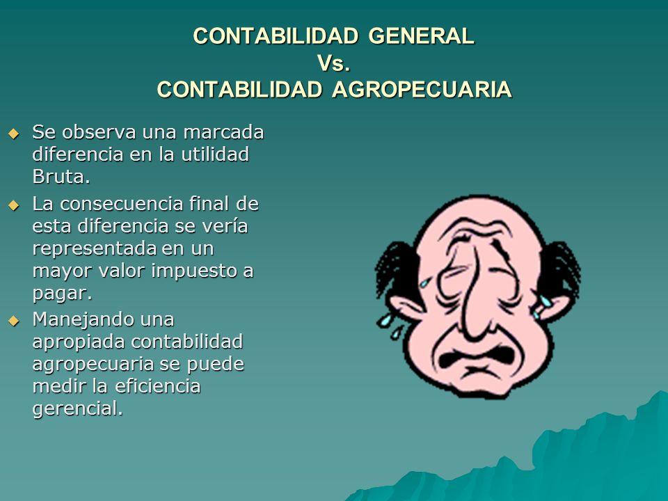 CONTABILIDAD GENERAL Vs. CONTABILIDAD AGROPECUARIA
