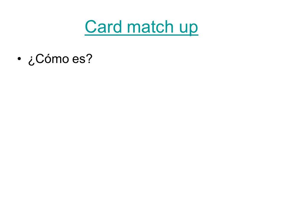 Card match up ¿Cómo es