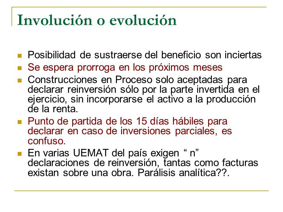 Involución o evolución