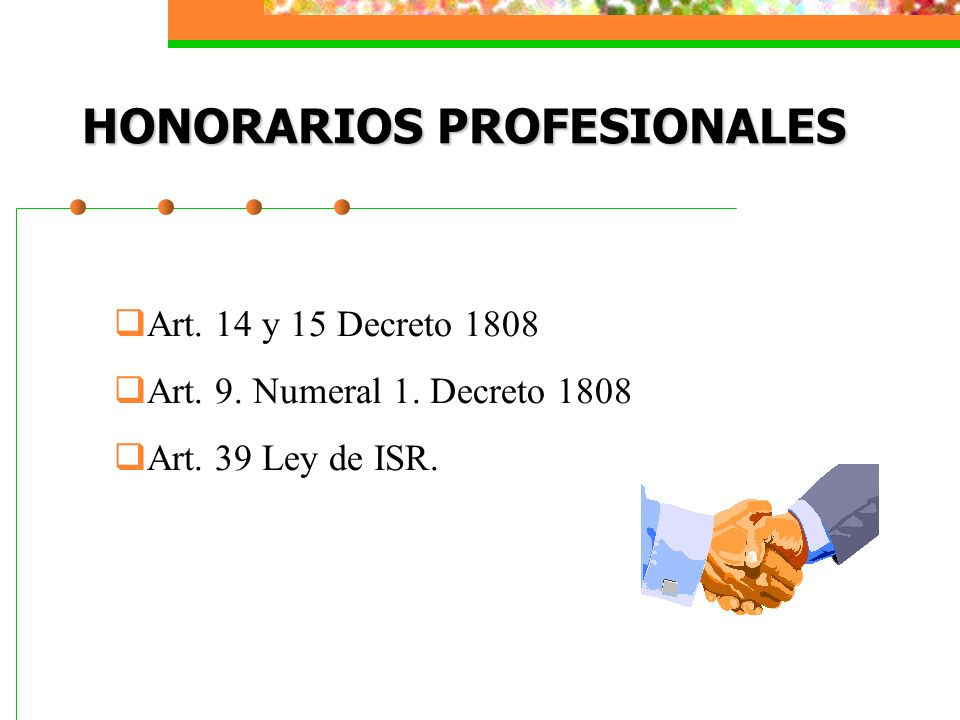 HONORARIOS PROFESIONALES