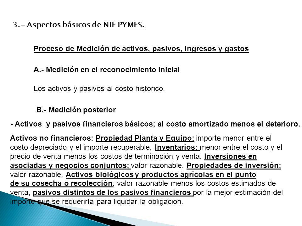3.- Aspectos básicos de NIF PYMES.