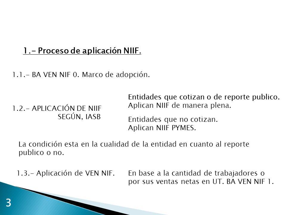 3 1.- Proceso de aplicación NIIF.