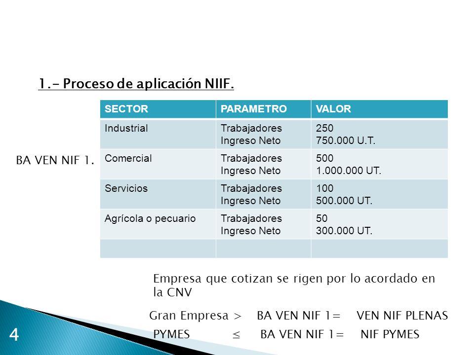 4 1.- Proceso de aplicación NIIF. BA VEN NIF 1.